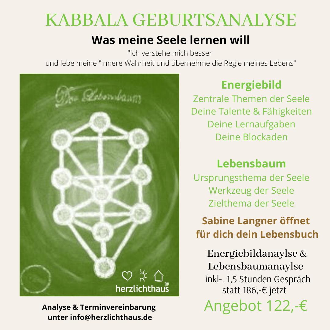 Kabbala Geburtsanalyse Lebensbaum @ Herzlichthaus Krefeld